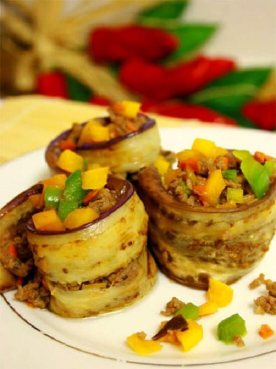 cuộn cà tím