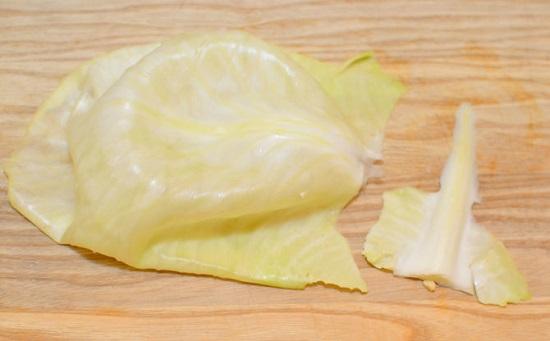 cắt bỏ phần thân lá bắp cải