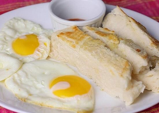 bánh mì nướng bằng nồi cơm điện thơm ngon