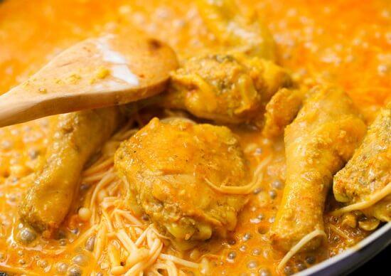 rim thịt gà cho ngấm vị
