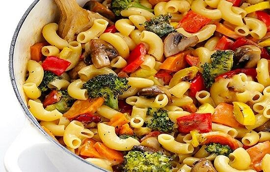 Cách làm mỳ ống trộn rau củ nướng thơm ngon 1
