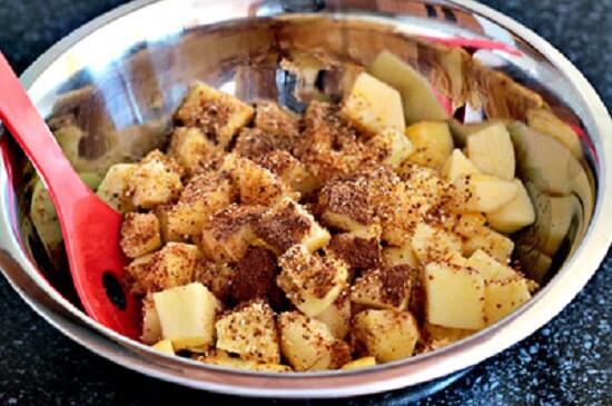 trộn táo với cacao