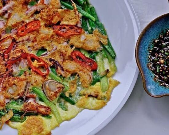 Bánh xèo hải sản Hàn Quốc ngon