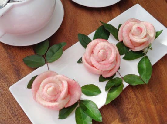 Cùng làm bánh bao hoa hồng đẹp mắt