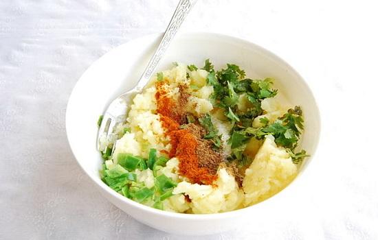 trộn khoai tây