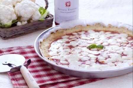 Cách làm pizza với đế bánh làm từ súp lơ 1