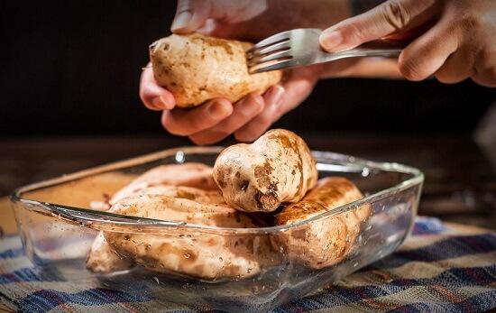 Cách làm khoai lang nướng bằng lò nướng bánh 4