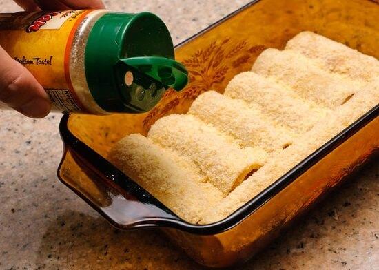 món lasagan cuộn phô mai của Ý