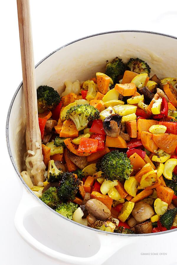 Cách làm mỳ ống trộn rau củ nướng thơm ngon 7