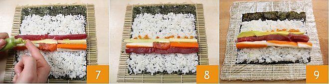 Cách làm Sushi Futomaki 4