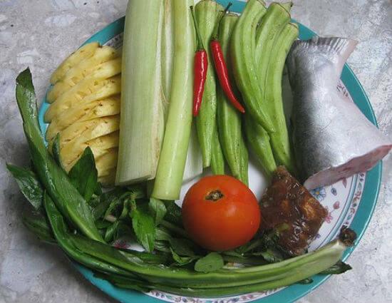 Nguyên liệu nấu canh chua cá basa