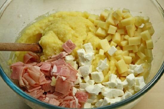 trộn khoai tây với phô mai
