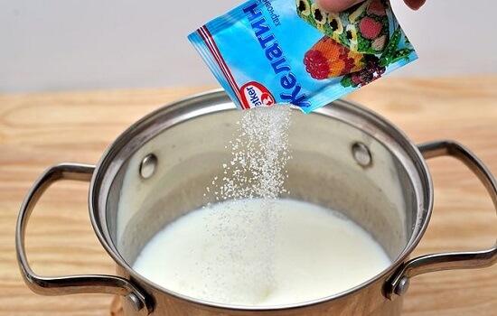 trộn sữa dừa với gelatin