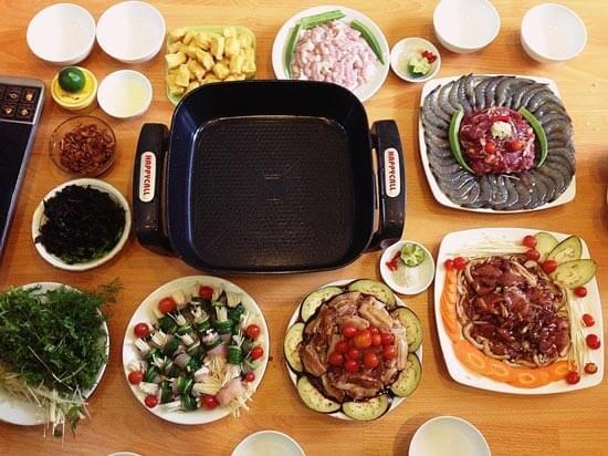 nguyên liệu để nấu lẩu nướng