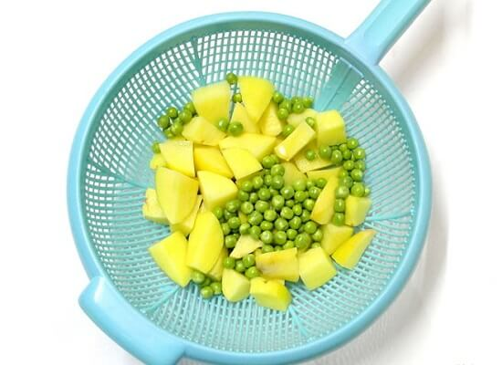 đậu hà lan và khoai tây
