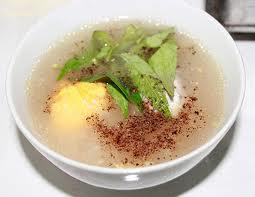 cháo trứng vịt lộn bổ dưỡng