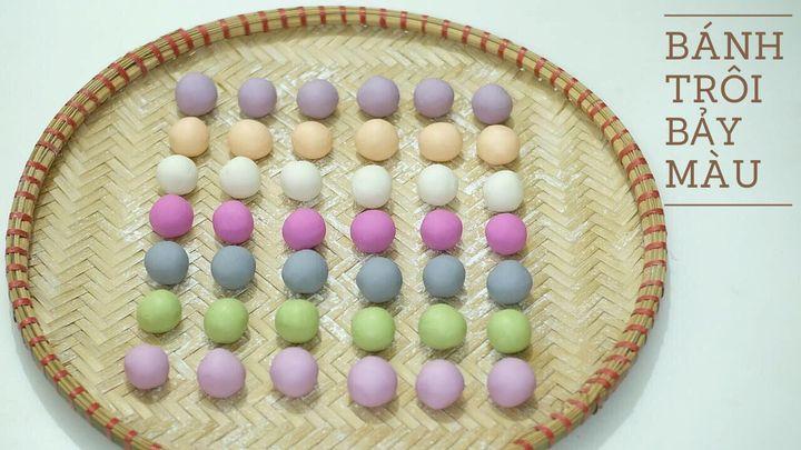 cách làm bánh trôi, Cách làm bánh trôi ngũ sắc dẻo thơm cho Tết Hàn Thực