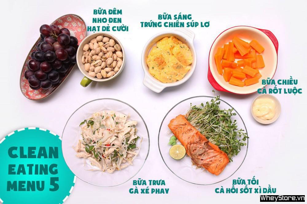 Thực đơn Eat Clean 7 ngày tăng cơ đốt mỡ cấp tốc - Ảnh 5
