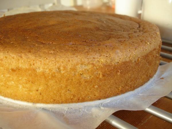 Cho khuôn bánh vào lò nướng để nướng - cách làm bánh sinh nhật đẹp