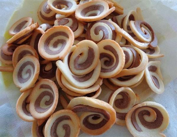 Bánh tai heo sau khi chiên - cách làm bánh tai heo