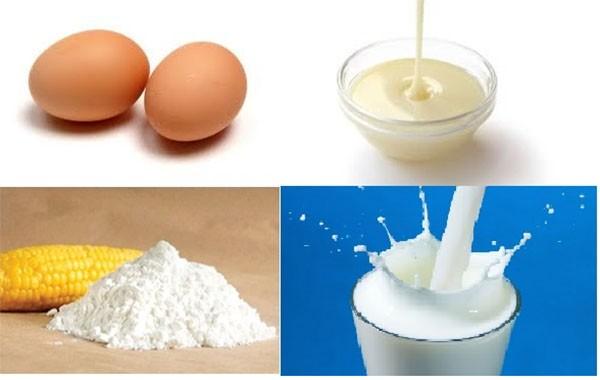 Nguyên liệu làm sữa tươi chiên - cách làm bánh sữa chiên