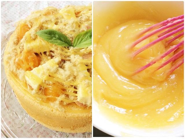 Sốt phô mai trứng muối đun trên bếp với ngọn nhỏ và phải khuấy không ngừng