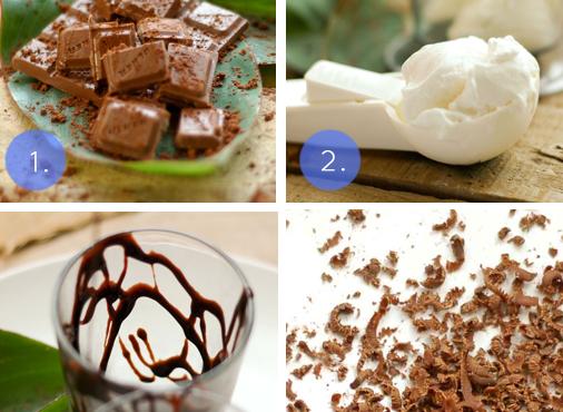 Cách làm kem sữa lắc chocolate đen, Cách làm kem sữa lắc chocolate đen