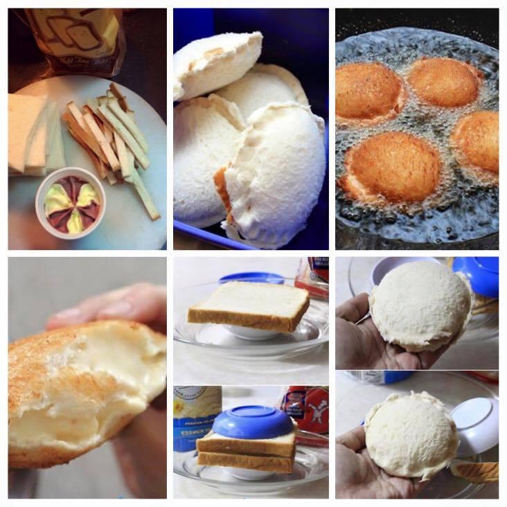 Cách làm kem chiên sandwich, Cách làm kem chiên sandwich giòn tan